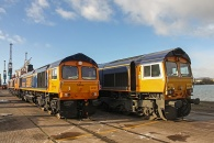 141208 - GBRF 66s Newport Docks 08/12/14