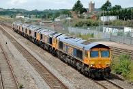 140712 - 0X66 GBRF Class 66s Convoy 12/07/14